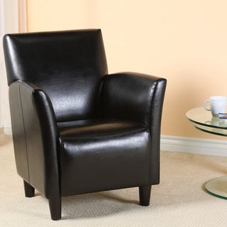Christopher Knight Home Francisco Black Bonded Leather Club Chair