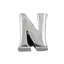 Sterling Essentials Sterling Silver 'N' Alphabet Bead