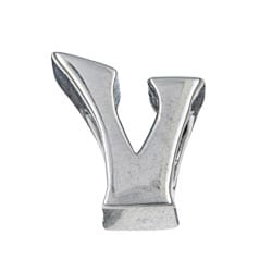 Sterling Essentials Sterling Silver 'V' Alphabet Bead