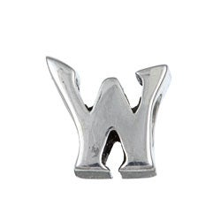 Sterling Essentials Sterling Silver 'W' Alphabet Bead