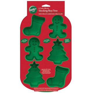 Wilton 6-cavity Silicone Christmas Mold