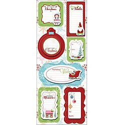 Holly Jolly Cottage Christmas Sticker Stackers Sheet