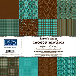 Karen's Basics 'Mocca Motion' Papercraft 84-sheet Stack