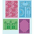 Provo Craft Cuttlebug Art Deco Embossing Folders (Pack of 4)