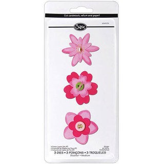 Sizzix Sizzlits 'Flower Layers #3' Die Set (Pack of 3)