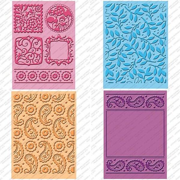 Plastic Provo Craft Cuttlebug Cricut Companion Embossing Folder Four-Piece Package