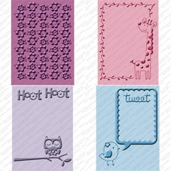 Provo Craft Cuttlebug Cricut Companion Embossing Folder 4-piece Package