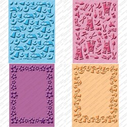 Textured Provo Craft Cuttlebug Cricut Companion Embossing Folder Four-Piece Package