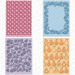 Decorative Provo Craft Cuttlebug Cricut Companion Embossing Folder Four-Piece Package