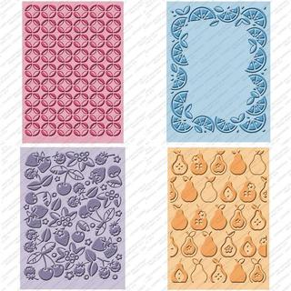 Decorative Provo Craft Cuttlebug Cricut Companion Embossing Folder Four-Piece Package