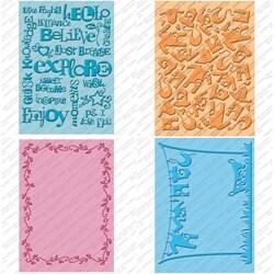 Sturdy Provo Craft Cuttlebug Cricut Companion Embossing Folder Four-Piece Package