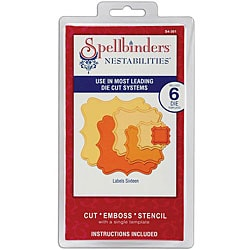 Spellbinders Nestabilities 'Labels 16' Dies