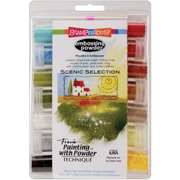 Stampendous 'Scenic' 14-pc Embossing Powder Set