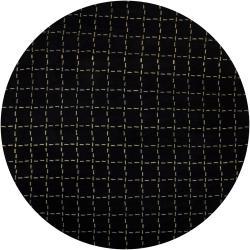 Hand-knotted Mandara Black Geometric Wool Rug (7'9 Round)