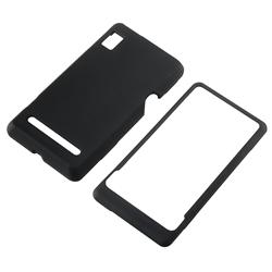 Black Snap-on Rubber Coated Case for Motorola Droid 2