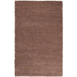 Hand-woven Nimbus Natural Wool Rug (8'x10')