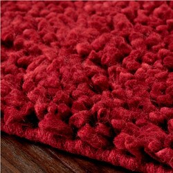 Hand-woven Nimbus Red Wool Rug (5'x8')
