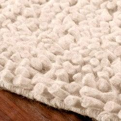 Hand-woven Nimbus Ivory Wool Rug (5'x8')