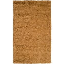 Hand-woven Nimbus Gold Wool Rug (5'x8')