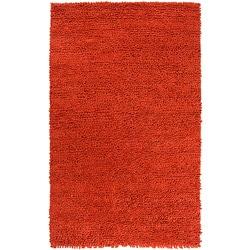 Hand-woven Nimbus Rust Wool Rug (5'x8')