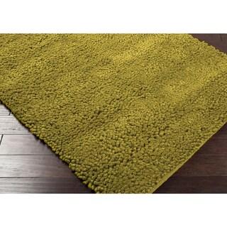 Hand-woven Nimbus Lime Green Wool Rug