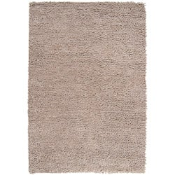 Hand-woven Nimbus Smoky Brown Wool Rug (8'x10')