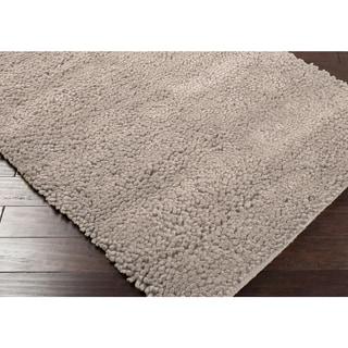 Hand-woven Nimbus Smoky Tan Wool Rug (8'x10')