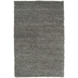 Hand-woven Nimbus Light Green Wool Rug (5'x8')