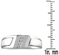 Marquee Jewels 10k White Gold Men's 1/10ct TDW Diamond Ring (I-J, I1-I2)
