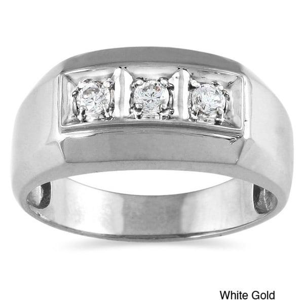 10k Gold 1/4ct TDW Men's Diamond Ring (I-J, I1-I2)
