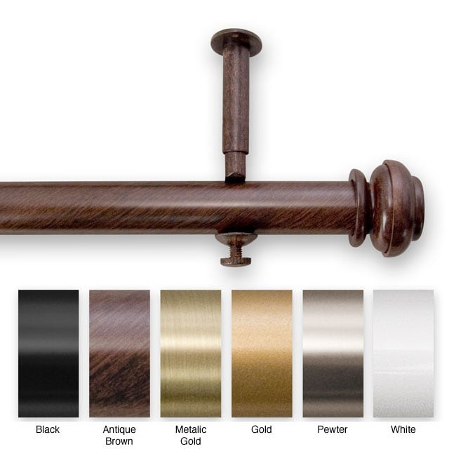 Bold 144 to 240-inch Adjustable Curtain Rod Set for Patio Doors