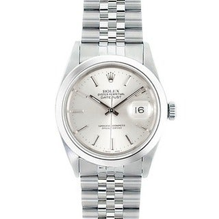 Pre-Owned Rolex Men's Datejust Stainless-Steel Silver-Dial Automatic Watch