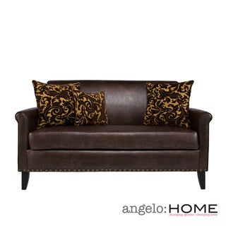 angelo:HOME Harlow Coffee Brown Renu Leather Sofa