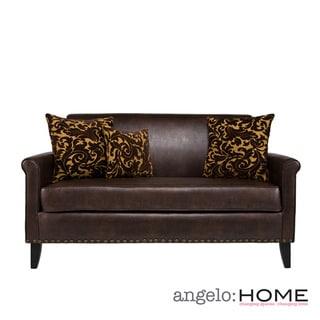 angelo:HOME Harlow Coffee Brown Renu Leather Sofa