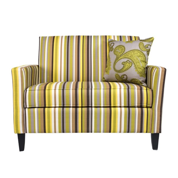 Angelo Home Sutton Sunflower Yellow Stripe Loveseat 13131821 Shopping Great