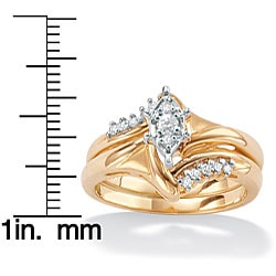 Isabella Collection 10k Gold 1/6ct TDW Diamond 2-piece Ring Set (I-J, I2-I3)