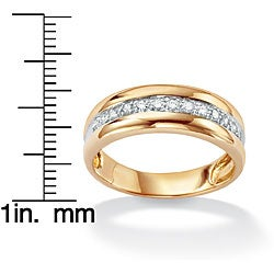 PalmBeach 10k Gold Two-Tone Diamond Ring (H-I, I2-I3) Men's