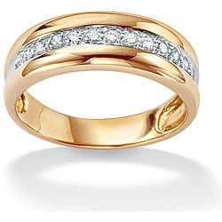 PalmBeach 10k Gold Two-Tone Diamond Ring (H-I, I2-I3)