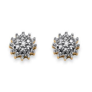 Isabella Collection 10k Gold Diamond Accent Earrings