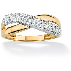 PalmBeach 10k Gold Diamond Women's Ring
