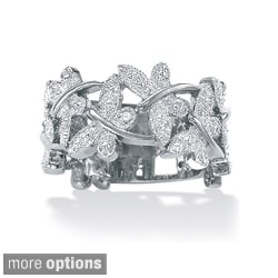 Isabella Collection Silver Diamond Accent Butterfly Ring
