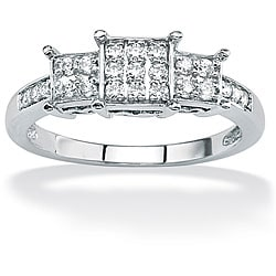 Isabella Collection 10k Gold 1/4ct TDW Diamond Cluster Ring (G-H, I2-I3)