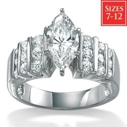 Ultimate CZ Gold-over-silver Round-cut Cubic Zirconia Fashion Ring