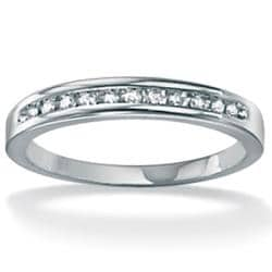Isabella Collection 10k White Gold 1/10ct TDW Diamond Ring (G-H, I2-I3)