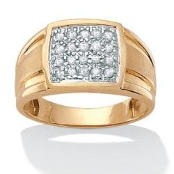 Isabella Collection 18k Gold over Silver Men's 1/2ct TDW Diamond Ring (I-J, I2-I3)