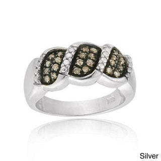 DB Designs Sterling Silver 1/4ct TDW Brown Diamond Ring (I-2, I-3)