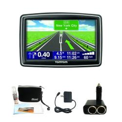 TomTom XXL 550 GPS Navigator with Deluxe GPS Accessories Kit (Refurbished)