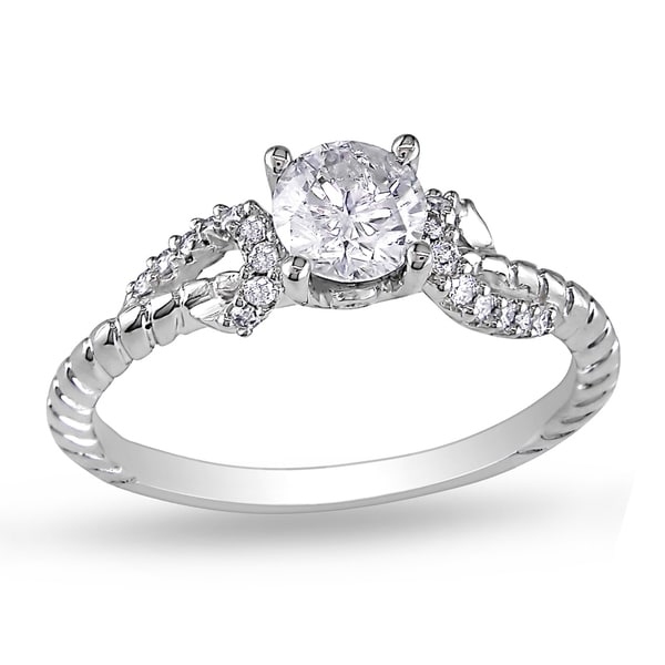 Miadora 14k White Gold 5/8ct TDW Diamond Ring (G-H, I2-I3)