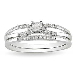 Miadora 10k Gold 1/5ct TDW 2-Piece Diamond Ring Set (G-H, I2-I3)