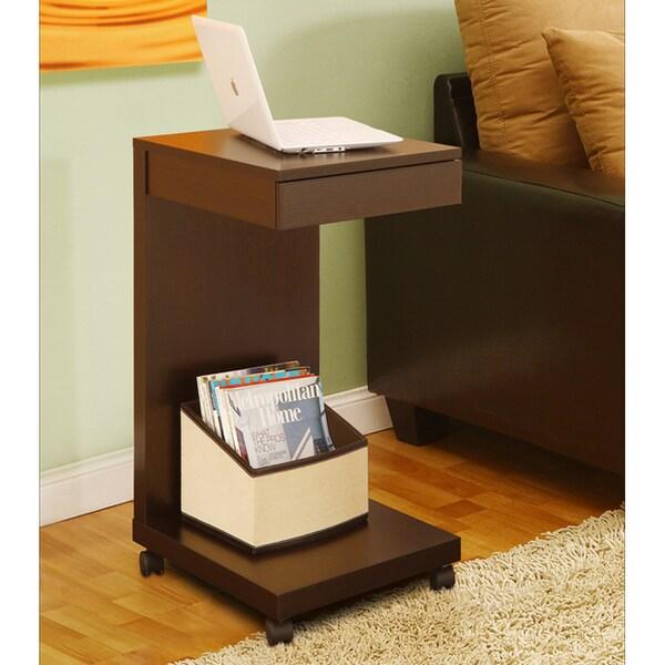 Furniture of America Tempo Red Cocoa Side Table